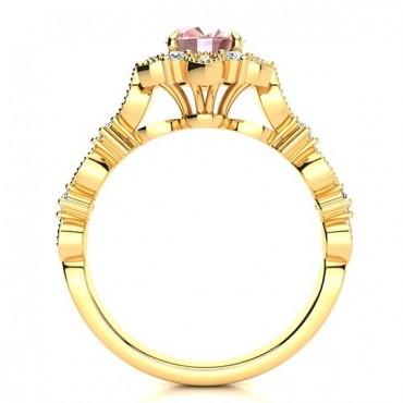 Brenda Morganite Ring - Yellow Gold