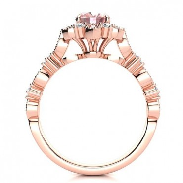 Brenda Morganite Ring - Rose Gold