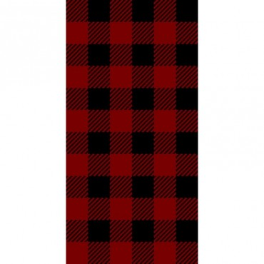 Buffalo Plaid Tweed In Red