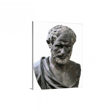 Bust Of Aristotle Wall Art - Canvas - Gallery Wrap
