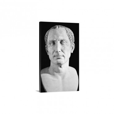Bust Of Gaius Julius Caesar Wall Art - Canvas - Gallery Wrap
