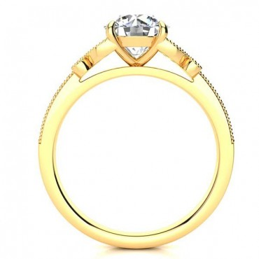 Butterfly Moissanite Ring - Yellow Gold