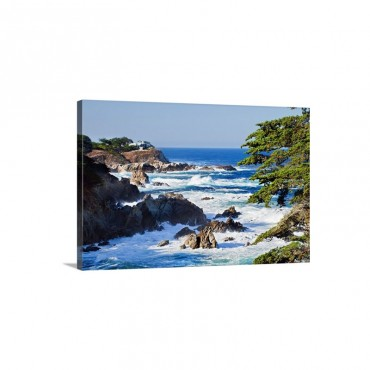 California Monterey Rugged Coastline Along Highway 1 Wall Art - Canvas - Gallery Wrap