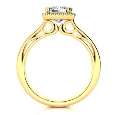 Camilla Moissanite Ring - Yellow Gold