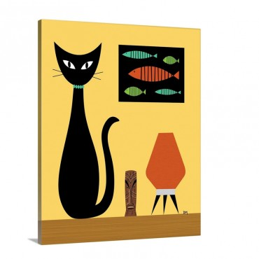 Cat on Tabletop 3 Wall Art - Canvas - Gallery Wrap