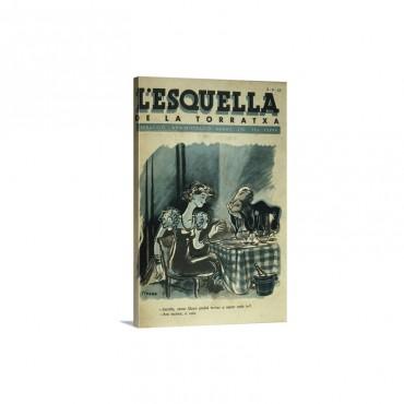 Catalan Magazine L'Esquella De La Torratxa 1937 Wall Art - Canvas - Gallery Wrap