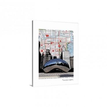 Chicago Millennium Bean Wall Art - Canvas - Gallery Wrap