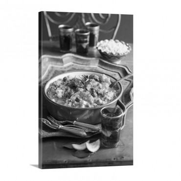 Chicken Tagine With Preserved Lemons North Africa Wall Art - Canvas - Gallery Wrap