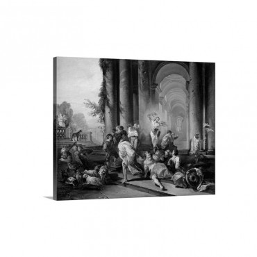 Christ Driving The Merchants From The Temple C 1720 30 Wall Art - Canvas - Gallery Wrap