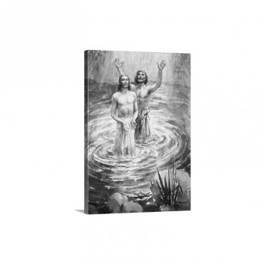 Christ Being Baptised By John The Baptist Wall Art - Canvas - Gallery Wrap