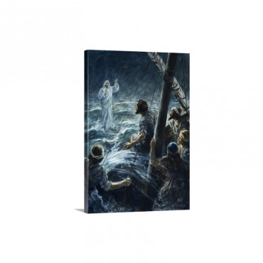 Christ Walking On The Sea Of Galilee Wall Art - Canvas - Gallery Wrap