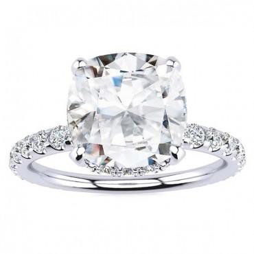 Christine Moissanite Ring - White Gold