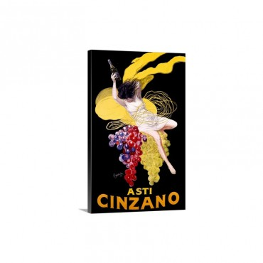 Cinzano Asti Aperitif Wine Vintage Advertising Poster Wall Art - Canvas - Gallery Wrap