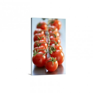 Close Up Of Cherry Tomatoes Wall Art - Canvas - Gallery Wrap