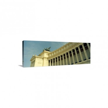 Colonnades Of A Monument Vittorio Emmanuel I I Monument Rome Italy Wall Art - Canvas - Gallery Wrap