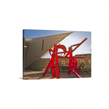 Colorado Denver Denver Civic Center Denver Art Museum Acoma Plaza Wall Art - Canvas - Gallery Wrap
