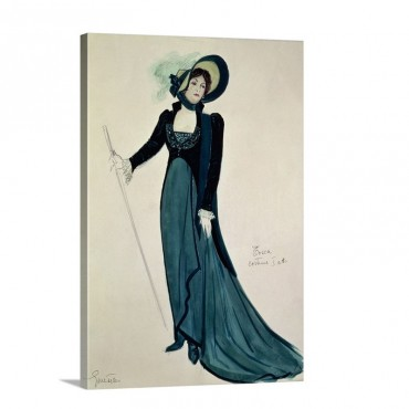 Costume design For Tosca From The Opera Tosca By Puccini Wall Art - Canvas - Gallery Wrap