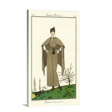 Costumes Parisiens Of 1914 Women's Fashion Wall Art - Canvas - Gallery Wrap