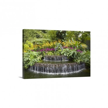 Crane Sculptures National Orchid Garden In Botanic Gardens Singapore Wall Art - Canvas - Gallery Wrap