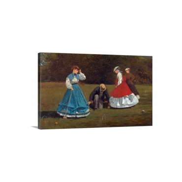 Croquet Scene By Winslow Homer Wall Art - Canvas - Gallery Wrap