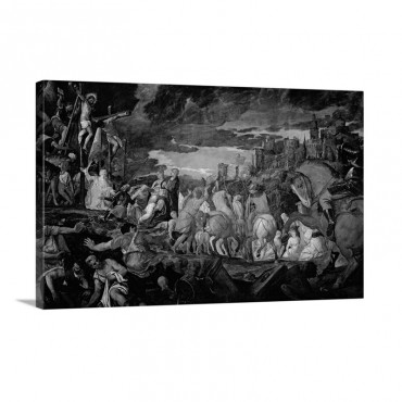 Crucifixion By Veronese 1582 Accademia Art Galleries Venice Italy Wall Art - Canvas - Gallery Wrap