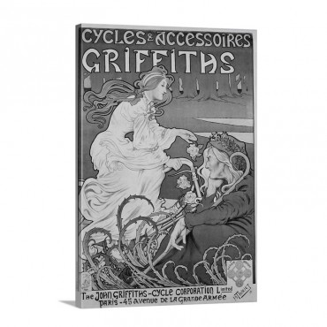 Cycles Et Accessoires Griffiths Poster By Henri Thiriet Wall Art - Canvas - Gallery Wrap