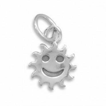 Smiley Face Sun Charm