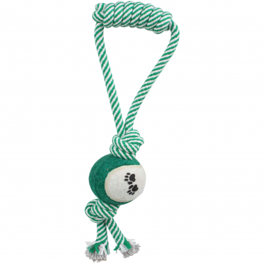 Pull Away Rope And Tennis Ball - Green