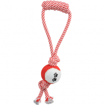Pull Away Rope And Tennis Ball - Red