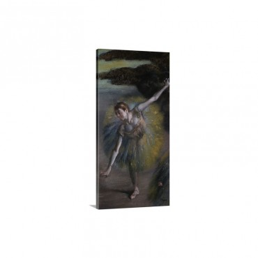 Dancer In Green Wall Art - Canvas - Gallery Wrap