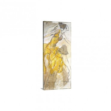 Dancer In Yellow Wall Art - Canvas - Gallery wrap