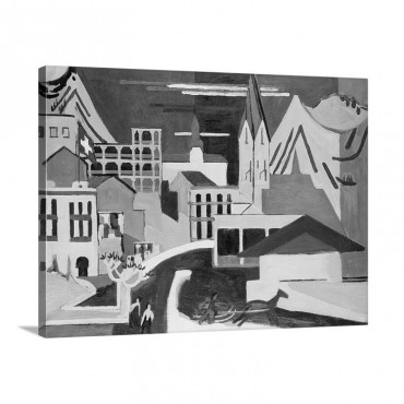 Davos Platz Railway Station Davos Platz Am Banhof 1931 Wall Art - Canvas - Gallery Wrap