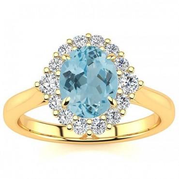 Debora Aquamarine Ring - Yellow Gold