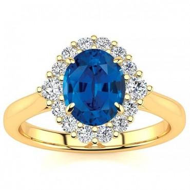 Debora Blue Sapphire Ring - Yellow Gold