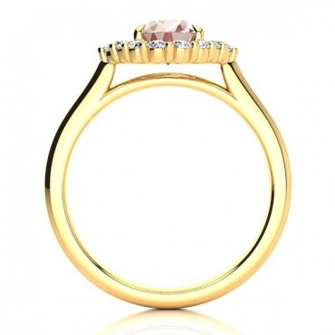 Debora Morganite Ring - Yellow Gold