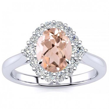 Debora Morganite Ring - White Gold