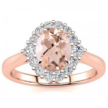 Debora Morganite Ring - Rose Gold