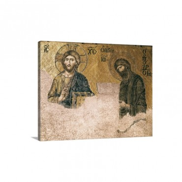 Deesis Mosaic 13th C Deesis Mosaic 13th C Istanbul Turkey Wall Art - Canvas - Gallery Wrap