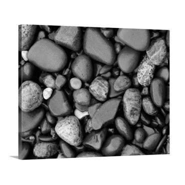 Detail Of Shoreline Rocks Lake Superior Michigan Wall Art - Canvas - Gallery Wrap