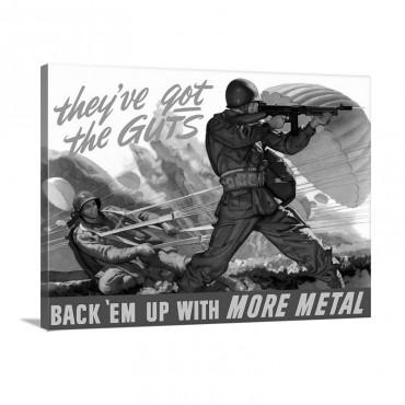 Digitally Restored Vector War Propaganda Poster They've Got The Guts Wall Art - Canvas - Gallery Wrap