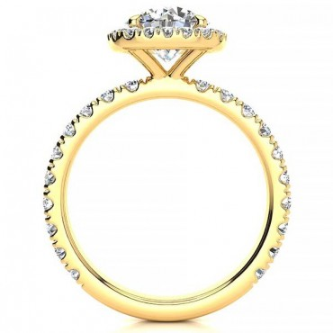 Donna Moissanite Ring - Yellow Gold