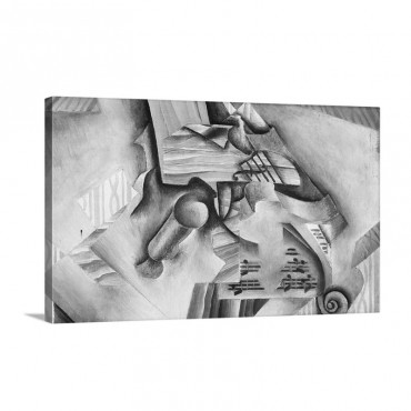 Double Bass And Vase Wall Art - Canvas - Gallery Wrap