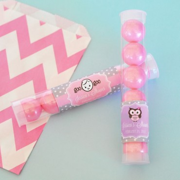 Personalized Baby Shower Candy Tubes - 24 Pieces