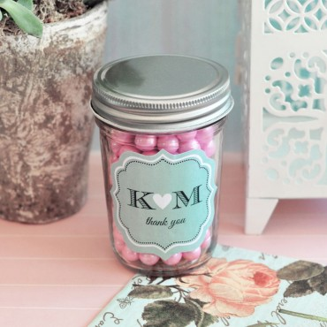 Personalized Theme Silhouette Mini Mason Jars - Set of 24