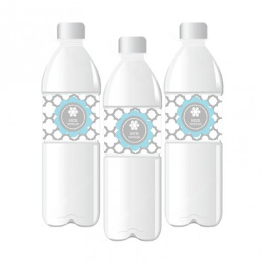 Personalized Winter Wonderland Party Water Bottle Labels - 24 Pieces