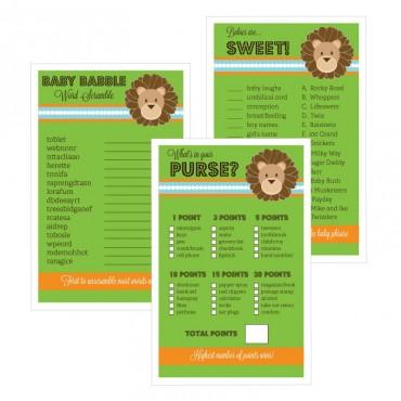 Baby Shower Games - Set of 10 - Jungle Safari
