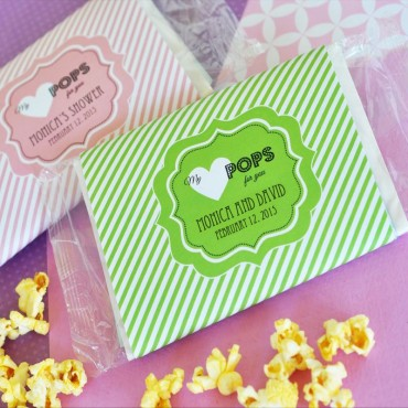 My Heart POPS for You Microwave Popcorn Bags