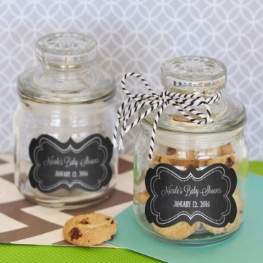 Chalkboard Baby Shower Personalized Mini Cookie Jars - 24 Pieces