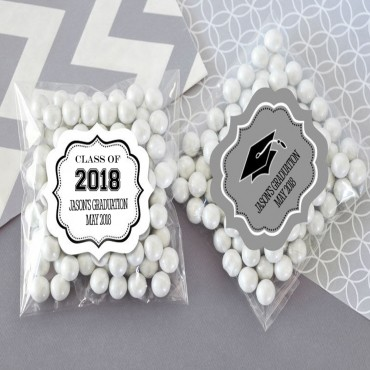 Personalized Graduation Clear Candy Bags - Set of 24