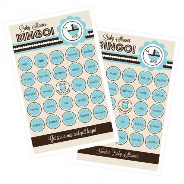 Blue Baby Shower Bingo - Set of 16